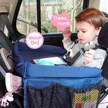 Организатор Авто сиденье Дети Автомобиль Организатором Водонепроницаемый стол автомобиль столик для сиденья хранения детская игрушка коляски сумка для хранения Mesh Trunk