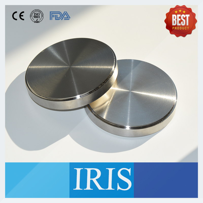2PCS OD98*14mm~16mm Dental Alloy Titanium Metal Disc Blocks For Making Fixed Metal Dentures Titanium Crown Grade 2 Grade 5