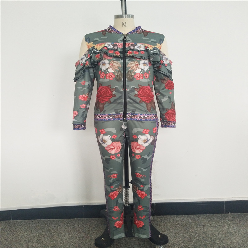 African Print Dresses For Women Dashiki Traditional African Two Piece Set Print Tracksuit Bazin Tops Pants Clothing Female Suit (15)
