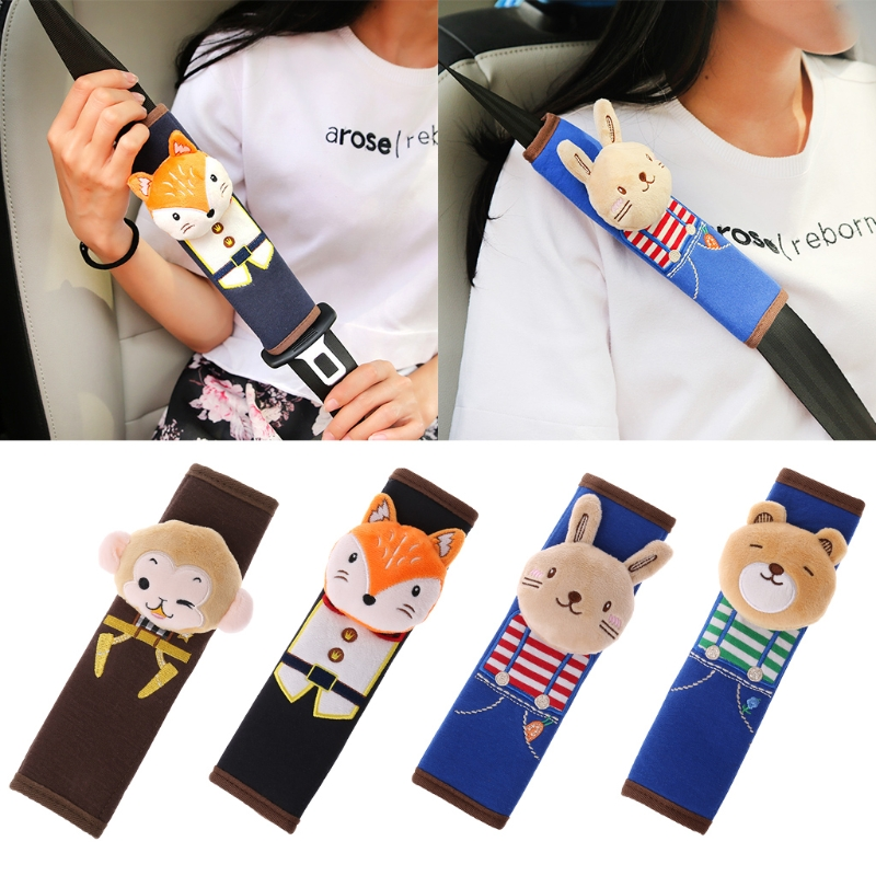 Car Seat Safety Belt Shoulder Pad Baby Cartoon Cover Children Protection Cushion