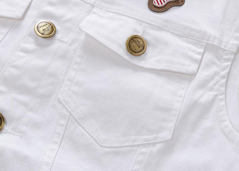 93833e0aacf Men White Denim Vest Fashion Outwear Jeans Waistcoat Sleeveless Special  Logo Motorcycle Club Autumn Top Denim Jacket Vest M XXXL-in Vests    Waistcoats from ...