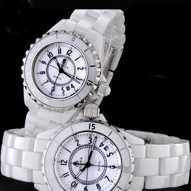 2017 New Ladies Wrist Watch Ceramics Strap 50M Water Resistance