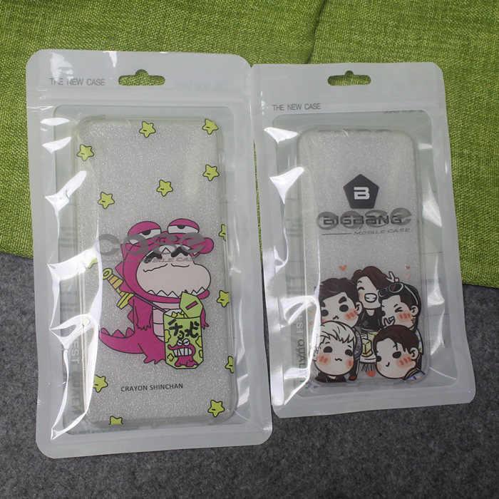 新しい携帯電話ケースカバー小売包装パッケージ収納袋用iphone 4 4 s 5 5 s 6プラスプラスチックジップロックポリパックホワイト
