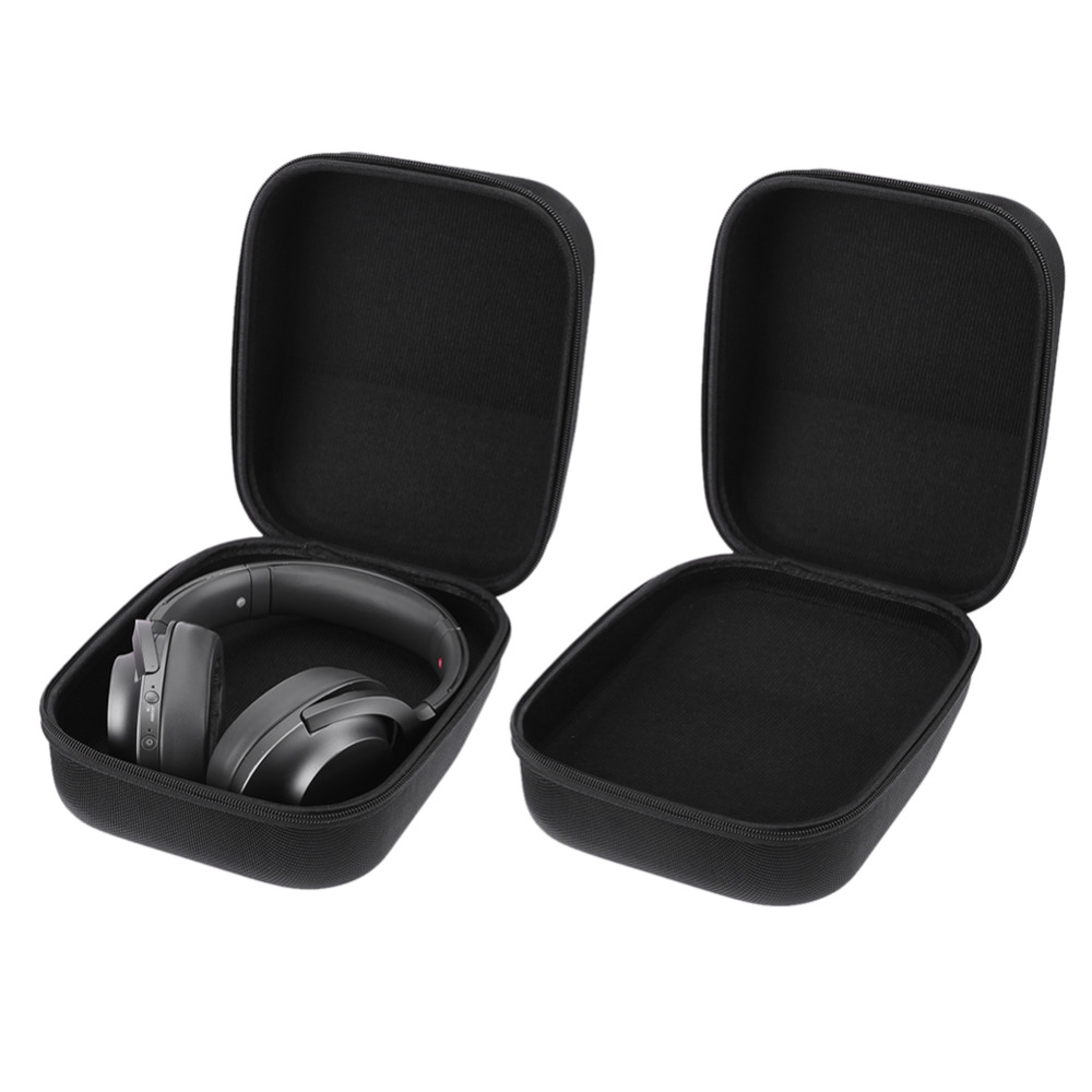 Universal Hard EVA Case Headphone earphone Storage Pouch Bag Case Travel Box for <font><b>Sennheiser</b></font> HD598 <font><b>HD600</b></font> HD650 Headphone <font><b>Cable</b></font> image