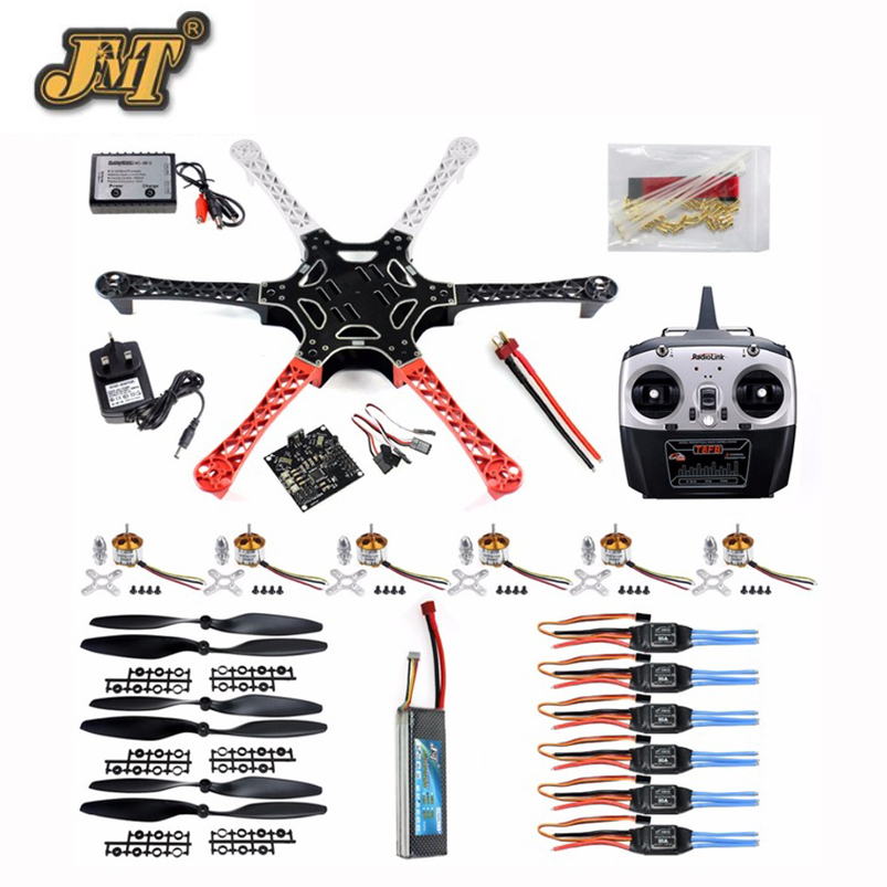 JMT DIY Drone Kit F550 6-Axis Flame Wheel KK 2.3 Controller HexaCopter RTF W/ ESC Motor Propeller Battery Radiolink T8FB TX RX блок питания atx 600 вт thermaltake tr2 s trs 0600npcweu