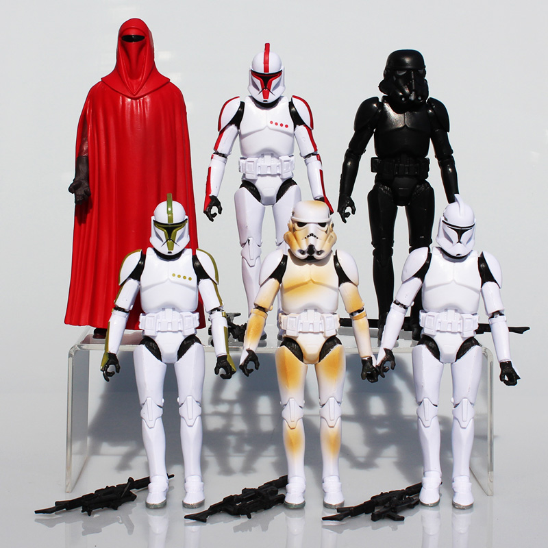 Star Wars Figures Sandtrooper Boba Fett Stormtrooper Clone Trooper PVC Action Figure Toys Model Dolls 16cm Great Gift 6Pcs/Set play arts star wars the force awakens boba fett figure action figures gift toy collectibles model doll 204