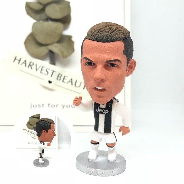 Futebol estatueta estrelas do futebol Cristiano Ronaldo 2019 JUV 7 # resina modelo toy collectible action figure bonecas articulações Móveis