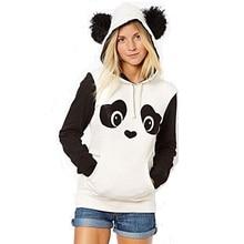 Harajuku 3D Print Cute Panda Fleece Sweatshirts Fashion Long sleeve with hat men Women Hoodies Cartoon Bear Hooded Pullover Coat
