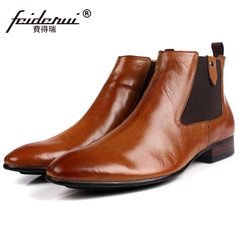 New Arrival Luxury Brand Man Comfortable Shoes Male Genuine Leather Men's Cowboy Western Martin Chelsea Ankle Boots HD59 new arrival man luxury brand cowboy western shoes male designer genuine leather round toe men s cowboy martin ankle boots ke62 page 3