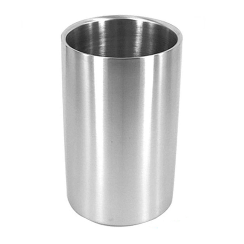 Double Wall Wine Cooler Tools Long Lasting Kitchen Ultra Resistant Stainless Steel Bar Holder Home Ice Bucket Multipurpose