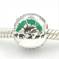 Fit for Pandora bracelet Animal Charm Original 100%925 sterling silver jewelry DIY making beads fo women free shipping