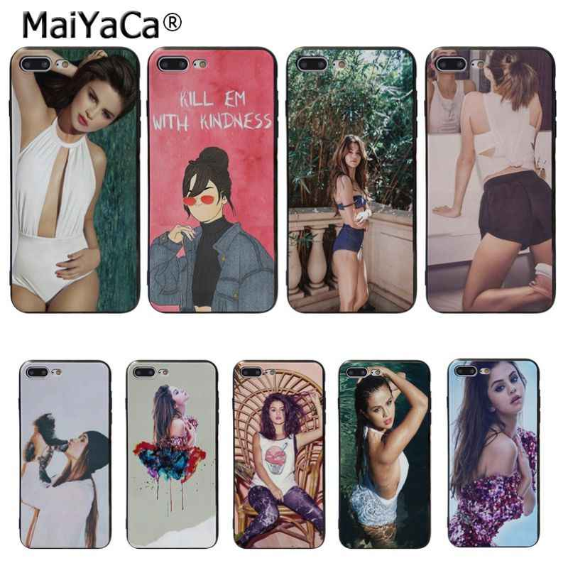MaiYaCa sexy Selena Gomez TPU Zachte Siliconen Phone Case Cover voor Apple iPhone 8 7 6 6S Plus X XS MAX 5 5S SE XR Cover case