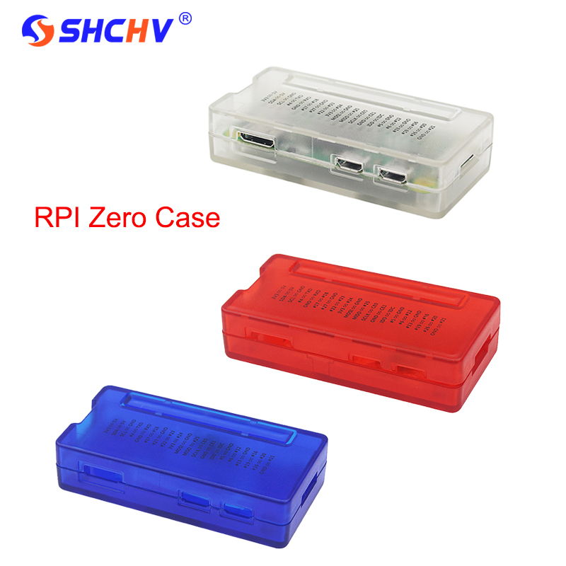 New Raspberry Pi Zero W Case Red Blue Black ABS Plastic Box GPIO Reference Case for RPI Zero 1.3 W купить в Москве 2019