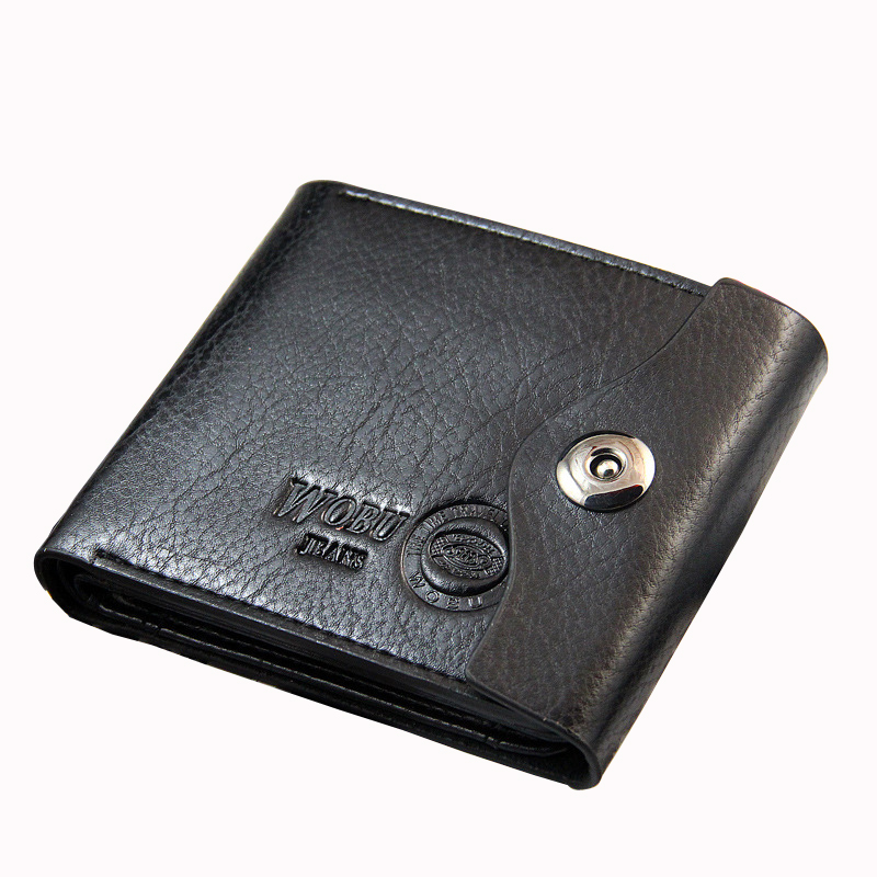 Vintage Men Short Trifold Wallet Money Coin Purses Male PU Leather Billfold Pocket Credit Passport Card Holders Small Case Clips 6 48 230 mm carbon vane for vacuum pump graphite plate block for vacuum pump becker