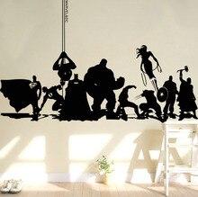 Creative DIY wall art home decoration Iron Man Avengers 2 & Hulk Captain America Boy bedroom living room stickers
