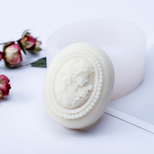 Soap Silicone Molds Craft-Tools Oval-Shaped Handmade-Making Woman Design Pretty-Girl