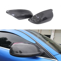 For Q5 Q7 Carbon Fiber Rear Side View Mirror Cover without lane assist 2010 2015 2016 2017 2018 2019 Audi SQ5 Q5 mirror cover