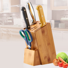 Health Bamboo Knife Holder Scissors Slicers Multifunction Kitchen Knife Block Wood Knife Rack Storage High Quality