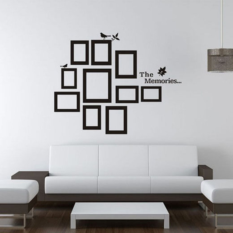 Pictures Photo Frame The Memories Quote Wall Decal Sticker Living Room Bedroom Art Decor Removable Black 6080CM 0045 In Stickers From Home