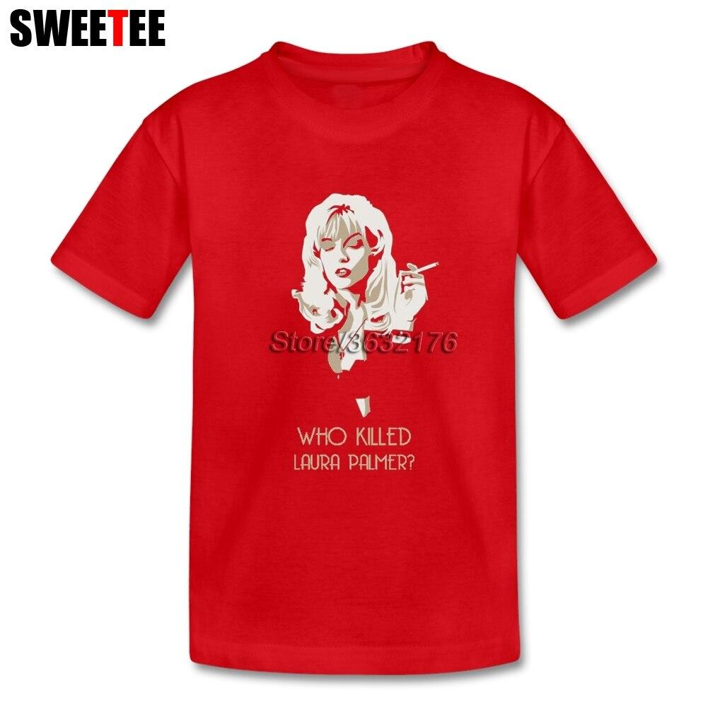 Твин Пикс кто убил Лора Палмер Детские футболки из 100% хлопка для мальчиков и девочек короткий рукав футболки для маленьких персонализирова...