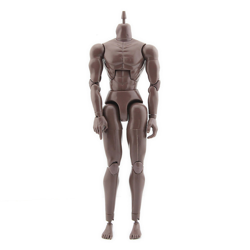 1:6 Scale Action Figure Muscle Male Black Nude Body Soldier Model Toys Doll Neck Version 3.0 image
