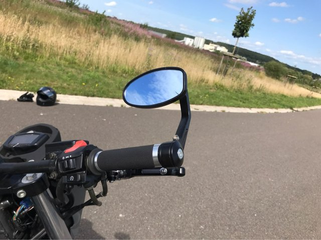 7 8mm bar end Universal Motorcycle Retro Rearview Mirror Racing Aluminum Modified Handle Bar Ends Side Mirrors FOR YAMAHA KTM