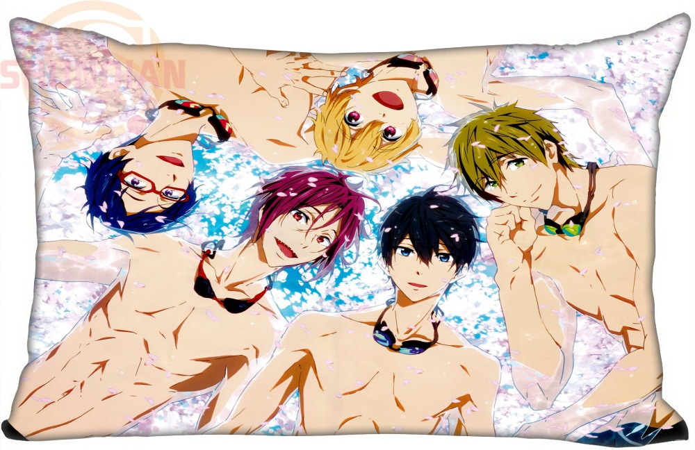 Top Selling Swim Club anime Custom Zippered Rectangle Pillowcases - Home Textile