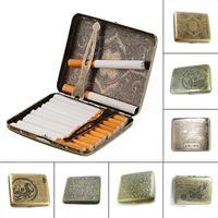 2018 оригинальный креативный винтажный металлический чехол для сигарет, модный мужской держатель для табака, карманный контейнер, подарочна...