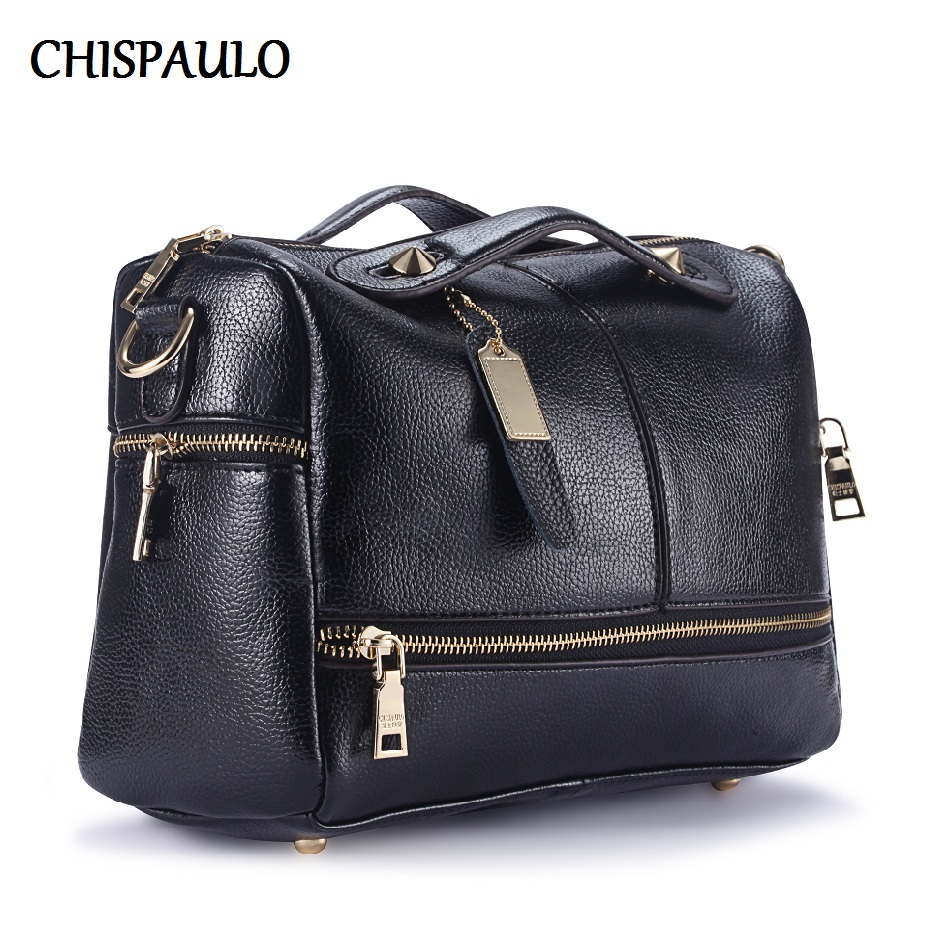CHISPAULO 2017 Designer Handbags High Quality Fashion Lady Genuine Leather Bags For Women Shoulder Messenger Crossbody Bags X39 genuine leather women bag fashion designer handbags luxury quality lady shoulder crossbody bags women messenger bag black pink