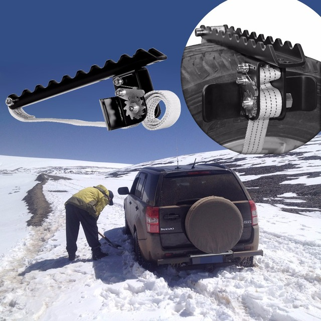 EZUNSTUCK Tire Anti-Skid Tool-RWD/AWD/4x4 SUV, Trucks, Pickup-EZ-D02ML , Sand, Snow, Ice, Better Than Traction Mat, Tire Chains