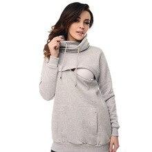 Breastfeeding Maternity Hoodies Nursing Pregnacy Sweatshirts Clothes for Pregnant Women Feeding Coat Autumn Winter