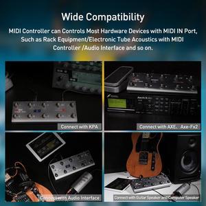 Image 2 - Портативный USB MIDI контроллер для гитары, с 10 ножными переключателями