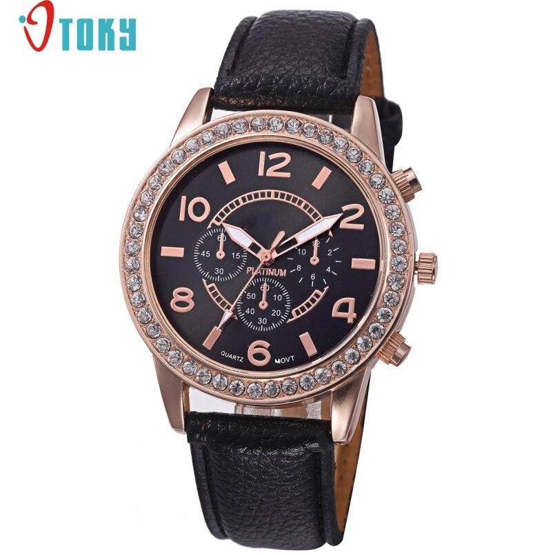 Excellent Quality OTOKY Dress Clock Female Brand Ladies Watch Diamond Analog Leather Band Quartz Watches Women Relogio Feminino