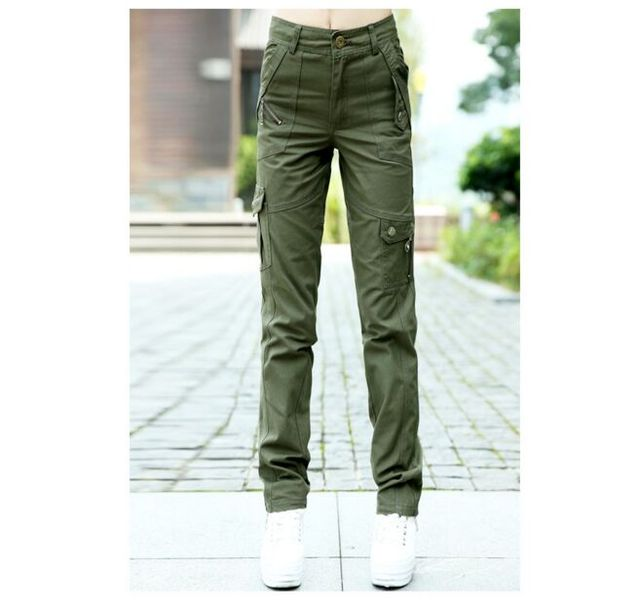 21dbaa37a1a Casual Army Green Pants Trousers Women Loose Pencil Trousers Multi Pocket  Cargo Pants Military female Plus Size 5XL 6XL Capris