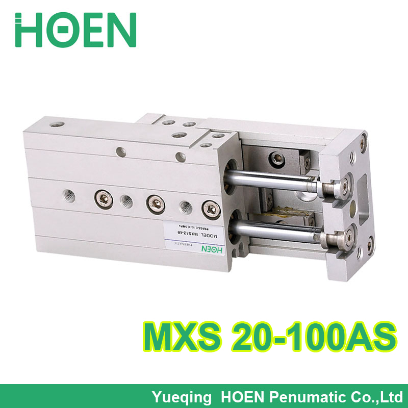 MXS20-100 SMC Type MXS series Cylinder MXS20-100AS Air Slide Table Double Acting 20mm bore 100mm stroke Accept custom MXS20*100 mxh10 25 mxh series double acting air slide table smc type mxh10 25 with high quality
