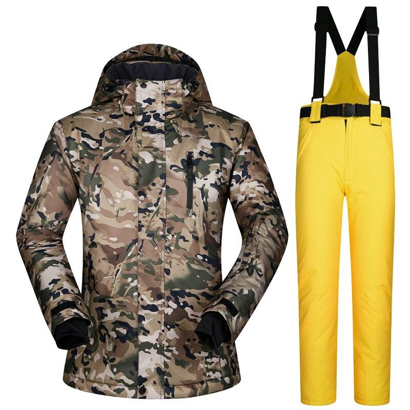 2018 MUTUSNOW Men Ski Suit Snowboard Jacket Pant Windproof Waterproof Outdoor Sport Wear Skiing Super Warm Winter Clothing Pant men plus size 4xl 5xl 6xl 7xl 8xl 9xl winter pant sport fleece lined softshell warm outdoor climbing snow soft shell pant