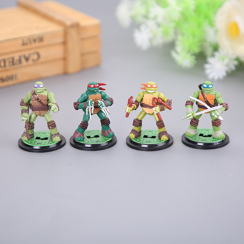 Doll Action-Figure Anime Model Toys Collection-Decoration Turtles-Shell PVC for Children