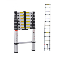 1Pcs Portable Telescopic Ladder With Joint 3.8m Thickening of Aluminum Alloy Folding Ladders multifunction A word of ladder