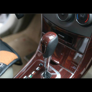 For TOYOTA Corolla 2007-2013 1PC Wood ABS Chrome Car Gear Shift Knob Frame Cover Trim Moldings Car Styling Auto Accessories