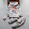 2PCS/0-3Years/Spring Autumn Baby Boys Clothing Sets Cartoon Casual Hooded T-shirt+Pants Children Sport Suits Kids Clothes BC1259