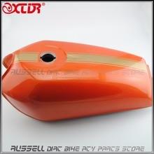 Мотоцикл Старинные ТОПЛИВНОГО Газа БАКА 9 Л Кафе Racer Для HONDA CG125 CG250 CG125S Paint Orange + наклейки