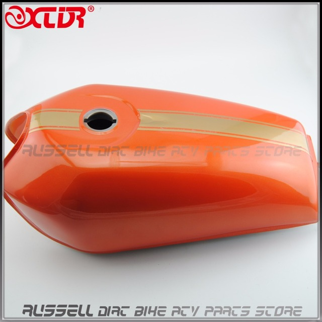 Motorcycle Vintage Fuel Gas Tank 9 L Cafe Racer For Honda Cg125 Cg125s Cg250 Paint Orange Stickers