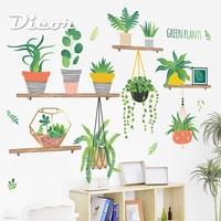 DICOR DIY наклейки на стену в горшках растения для Домашний декор для кухни украшения наклейки съёмные постеры Adesivo де parede QT791