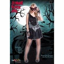 Halloween Rock Girl Zombie Cosplay Suit