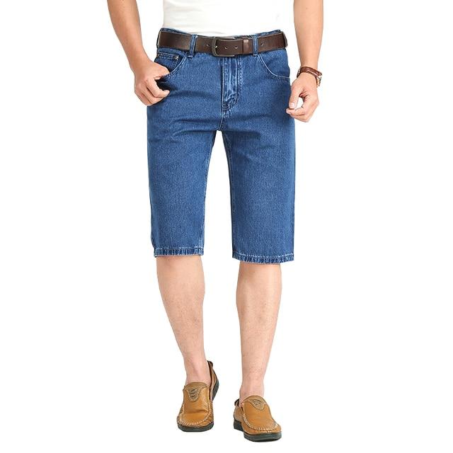4835c3397a618 Denim clásico hombres shorts verano fino algodón casual stretch pantalones  cortos de playa para hombre jpg