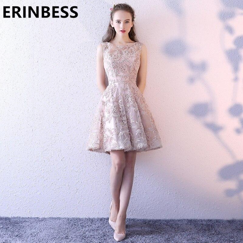 Vintage Champagne Beaded Short Mini   Prom     Dresses   Vestido De Festa Cap Sleeve Sleeveless Luxury Short Party Gowns 2019