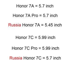 Image 2 - Защитный чехол, из закаленного стекла с полным покрытием для Huawei Honor 9/9 Lite/8X Max/7A/7C Pro