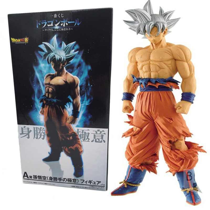 26 centímetros Dragon Ball Z Goku Ultra Instinto Migatte Não Gokui Prata cabelo Super Saiyan Goku Pvc Action Figure Toy collectible Modelo