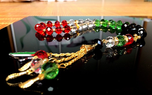 Palestine prayer beads Rosary  masbaha   bracelet  Palestinian map pendant  Arabic  color