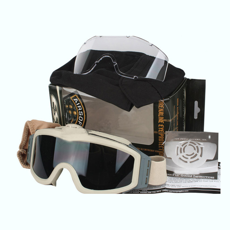 High Quality ESS Goggles Sunglasses Outdoor Sports Army Bullet-proof Fan Anti-Fog Eyewear Military Goggles Wholesale topeak outdoor sports cycling photochromic sun glasses bicycle sunglasses mtb nxt lenses glasses eyewear goggles 3 colors
